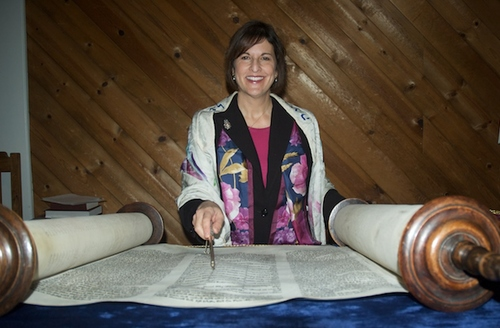 JHD Reading from the Torah scroll by Carla Resnick