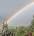 Rainbow in Ashland, Oregon, Rabbi David Zaslow