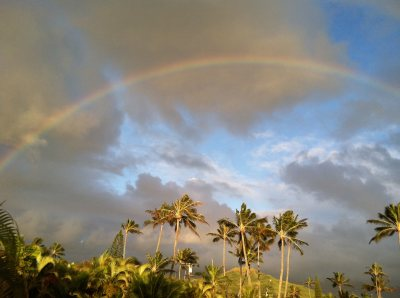 Sunrise Rainbow in Kailua