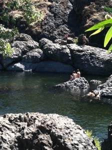 Bear Hole, Basalt Pool in Upper Bidwell Park, Chico, California