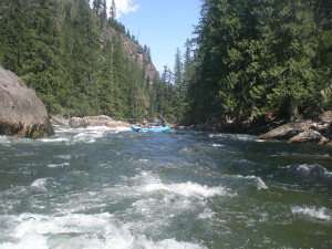 Rafting on Selway River