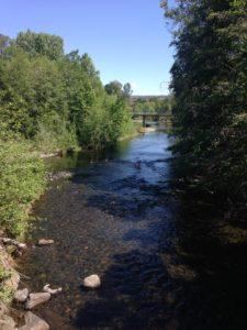 looking upstream at 5 mile dam, JHD