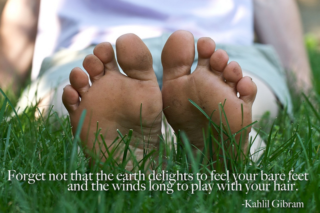 Feet on the Earth: Take Your Shoes Off