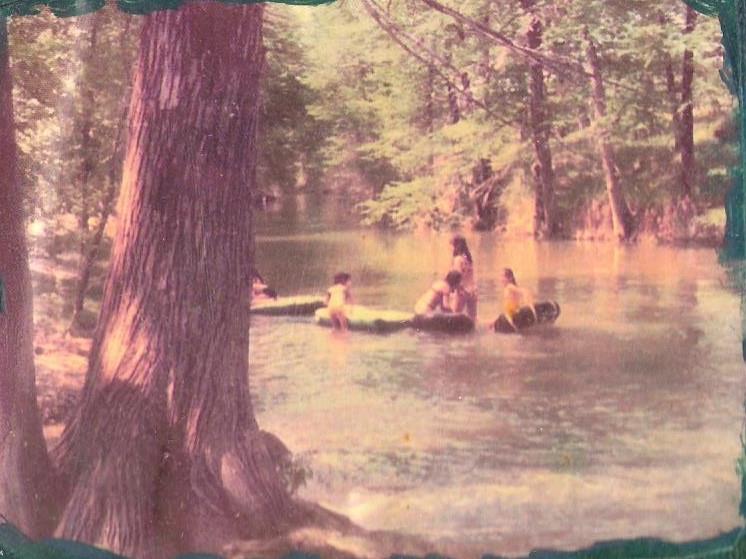 Tubing on Sabinal River, 1970's, family photo