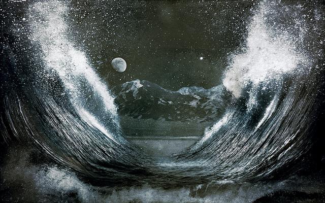 Splitting the Sea with Wind