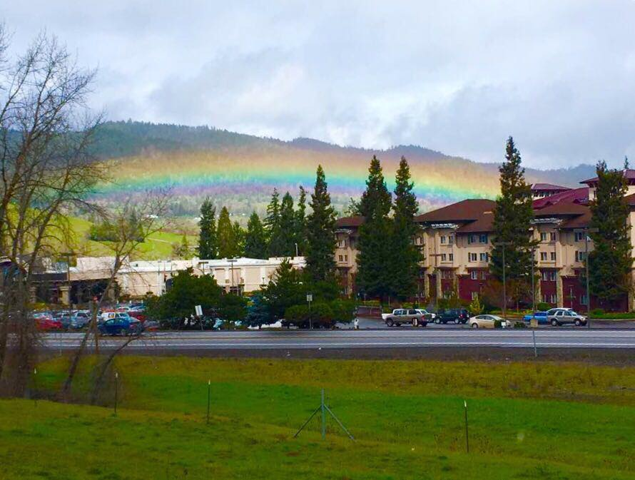 Rainbow in Canyonville, Oregon, Sue Morningstar