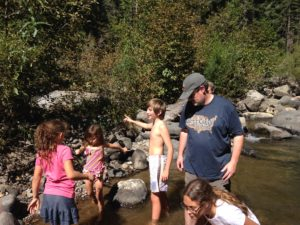 Playing in the Creek, Mill Creek, CA