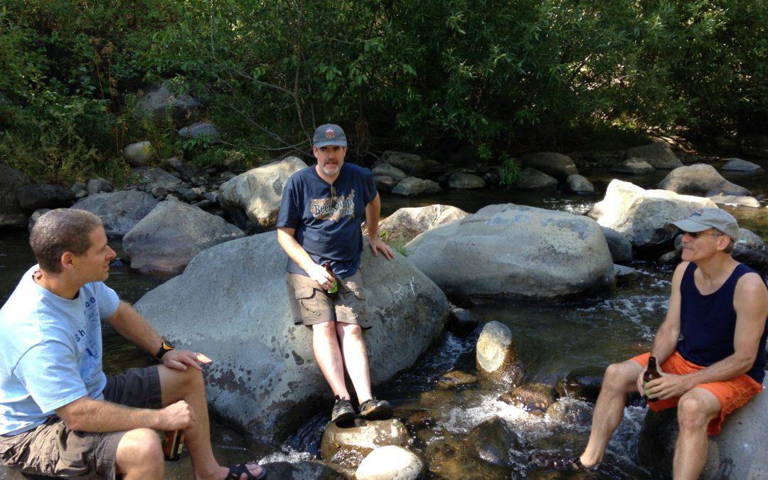 Sitting by Creek,Northern California