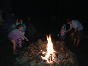 campfire in Mill Creek, California