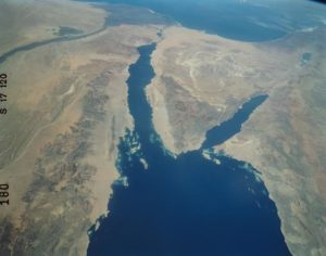 Red Sea, NASA photo, public domain