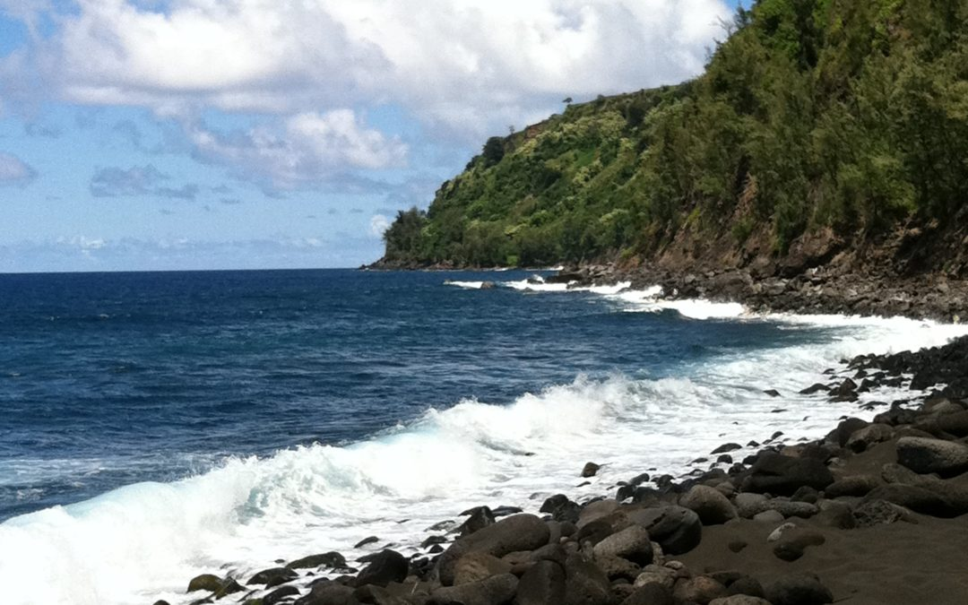 Black sand beach, Hawaii Big Island, JHD