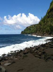 Black sand beach, Hawaii Big Island, JHD