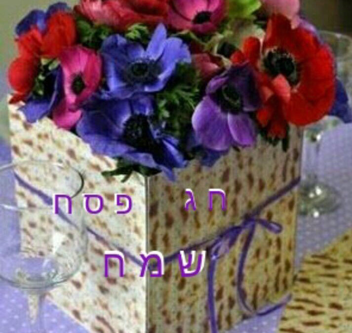 Happy Passover flowers