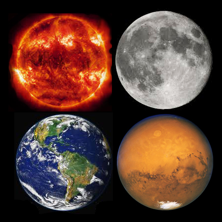 sun moon earth mars by goddard studio 13