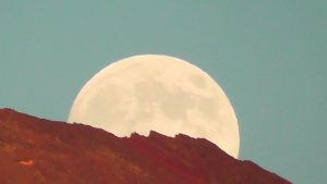 Moon Rise Over a Remote Mountain Lake (Summer 2013